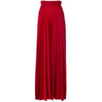 Atu Body Couture Calça Palazzo Plissada - Vermelho