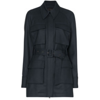 Low Classic Belted Wool Jacket - Azul
