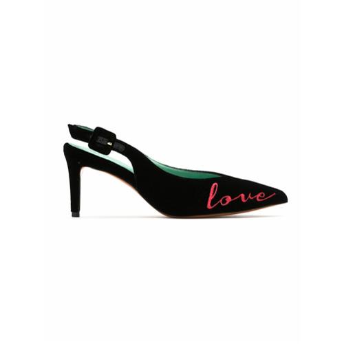 Imagem de Blue Bird Shoes Scarpin sling-back 'Love Kills' - Preto