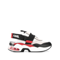 Karl Lagerfeld Tênis Com Tira Posterior - Preto