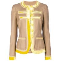 Givenchy Blazer Com Acabamento Contrastante - Neutro