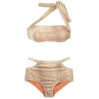 Adriana Degreas Biquíni Hot Pants De Veludo - Neutro
