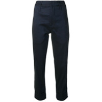 Tela Cropped Slim Trousers - Azul