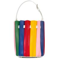Sara Battaglia Bolsa De Couro 'plissé Bucket' - Estampado