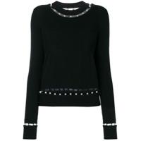 Givenchy Blusa De Moletom Com Esferas Peroladas - Preto