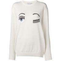 Chiara Ferragni Knitted Crew Neck Sweater - Branco