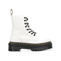 Dr. Martens Platform Lace-Up Sneakers - Branco