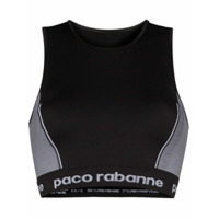 Paco Rabanne Top Esportivo Color Block - Preto