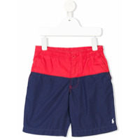 Ralph Lauren Kids Short Color Block - Vermelho