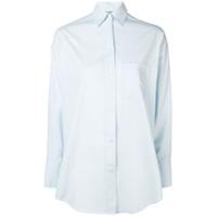 Vince Classic Plain Shirt - Azul
