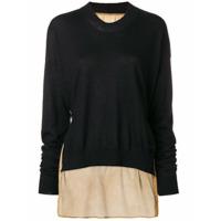 Uma Wang Suéter De Cashmere Com Contraste - Preto