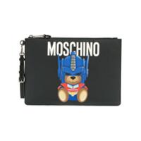 Moschino Clutch Grande 'transformer Bear' - Preto