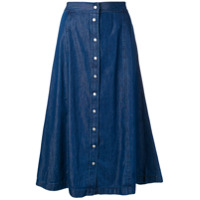 Calvin Klein Jeans Saia Com Botões - Azul