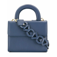Âme Moi Bolsa Tote 'claudia' De Couro - Azul