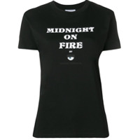 Chiara Ferragni Camiseta Midnight On Fire - Preto