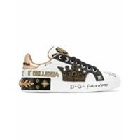 Dolce & Gabbana Tênis 'portofino' De Couro - Branco