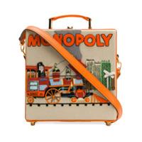 Olympia Le-Tan Bolsa Clutch 'monopoly Train' - Laranja