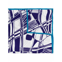 Faliero Sarti Echarpe Com Padronagem Geométrica - Azul