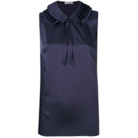 P.a.r.o.s.h. Blusa Com Gola Plissada - Azul