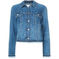 Rag & Bone Jaqueta Jeans Com Acabamento De Franjas - Azul