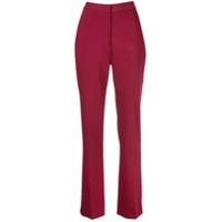 Carolina Herrera Calça Reta Cintura Alta - Vermelho