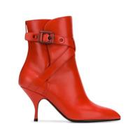 Bottega Veneta Pointed Ankle Boots - Vermelho