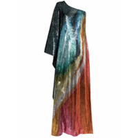 Mary Katrantzou Vestido Longo Isole Assimétrico Com Paetês - 022 Blown Glass
