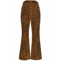 Pushbutton Calça Com Estampa Leopardo - Marrom