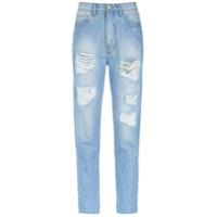 Amapô Calça Mom Jeans - Azul