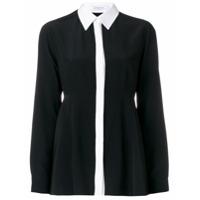 Givenchy Camisa De Seda Com Contraste - Preto
