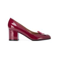 Pollini Sapato De Couro Encenizado - Vermelho