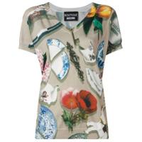 Boutique Moschino Blusa De Tricô Com Estampa - Neutro