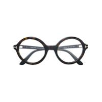 Tom Ford Eyewear Armação De Óculos Redonda - Marrom