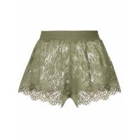 Puma Shorts De Renda - Green