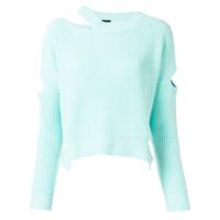 Pinko Suéter Com Recorte - Verde
