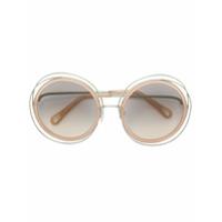 Chloé Eyewear Óculos De Sol Redondo - Neutro