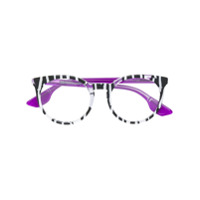 Mcq By Alexander Mcqueen Eyewear Armação De Óculos Oversized - Preto