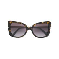 Tom Ford Eyewear Óculos De Sol Oversized - Marrom