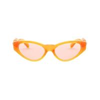 Versace Eyewear Armação De Óculos Oval - Laranja
