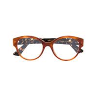Gucci Eyewear Armação De Óculos Redonda - Amarelo