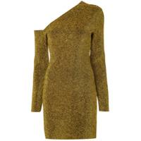 Solace London Vestido De Um Ombro Só - Dourado