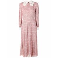 Fendi Vestido Plissado - Rosa