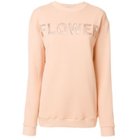 Christopher Kane Moletom 'flower' - Neutro