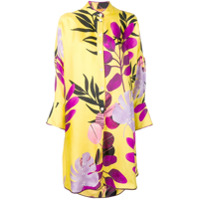 F.r.s For Restless Sleepers Leaf Print Long Shirt - Amarelo