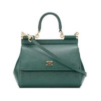 Dolce & Gabbana Bolsa Tote 'sicily' Pequena De Couro - Verde