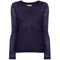 Isabel Marant Étoile Longsleeved Striped T-Shirt - Preto