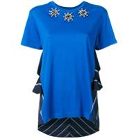 Antonio Marras Camiseta Decote Arredondado Com Aplicações - Azul