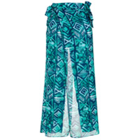 Brigitte Calça Pantalona Estampada - Azul