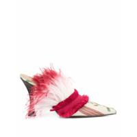 Tabitha Simmons Sapato Com Estampa E Penas - Rosa