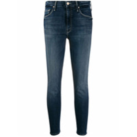 Mother Calça Jeans Cropped The Looker - Azul